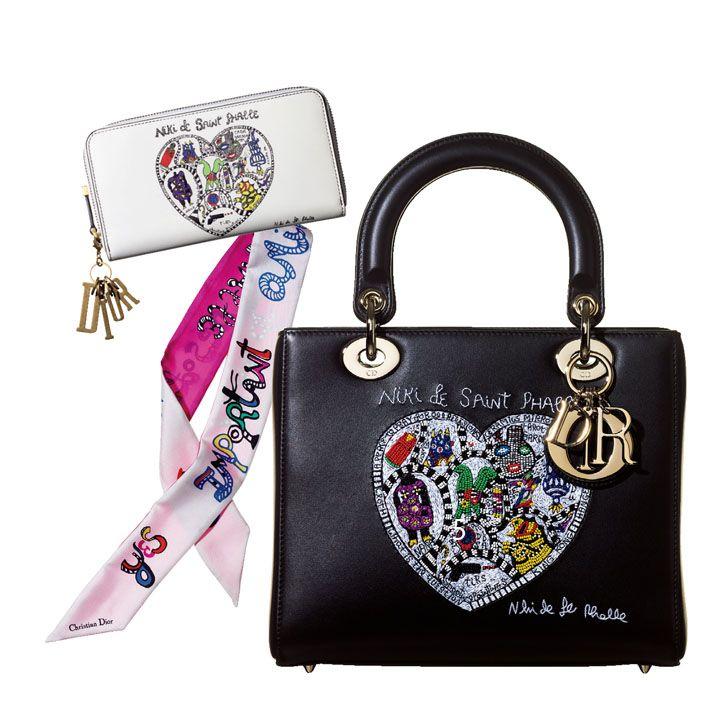 【6】ハンドバッグ|ニキ・ド・サンファル(ブラック&刺繍)