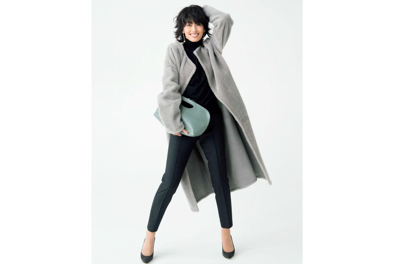 【2】ムートンコートを海外セレブっぽく着こなす