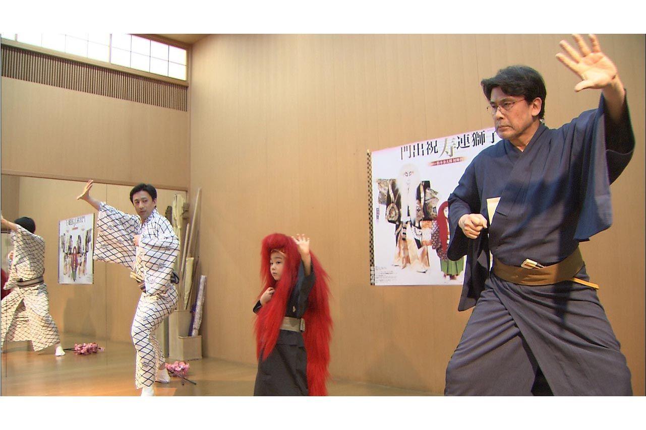 稽古場で練習をする八代目市川染五郎のかっこいい画像