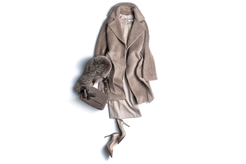 マックスマーラのグレー系コート