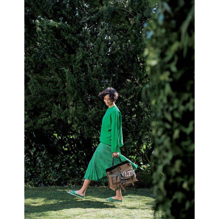 ヴァレンティノ|グリーンのサンダル
