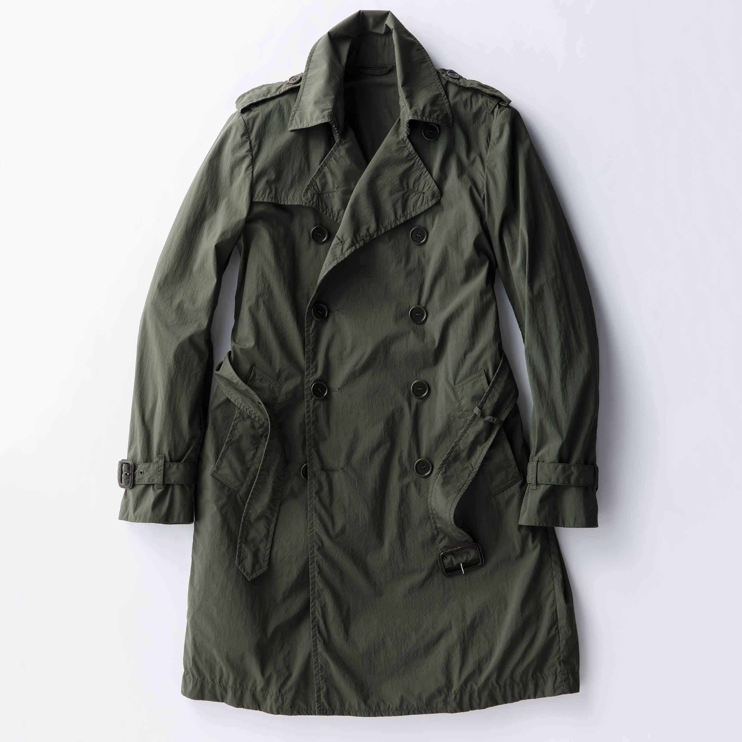 【6】春コートはベルト付きで存在感UP!