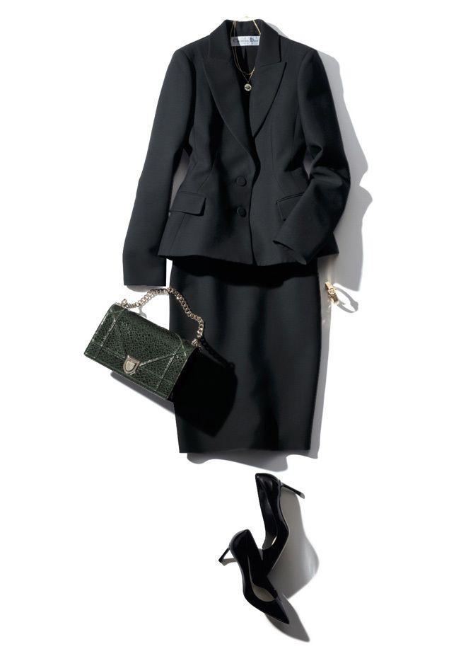 【7】黒ジャケット×スカート