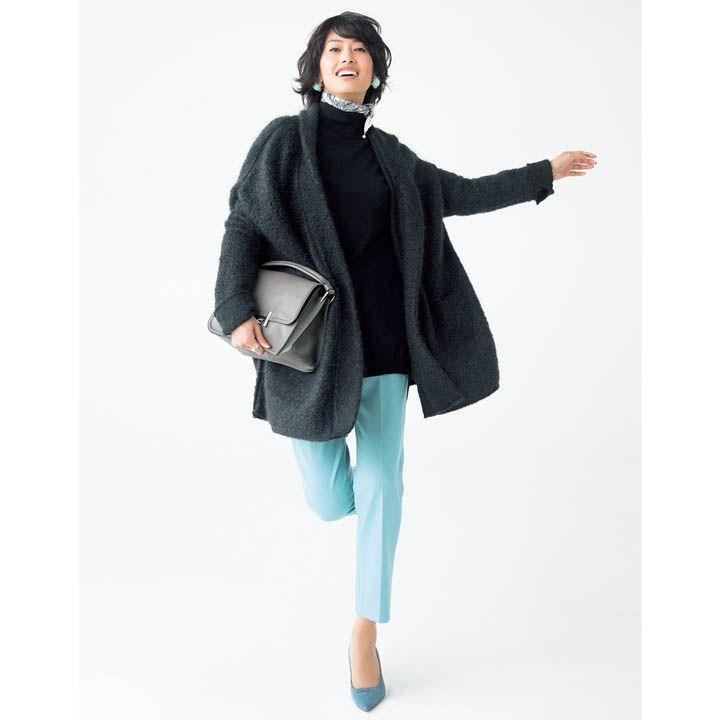【4】黒タートル×きれい色パンツ