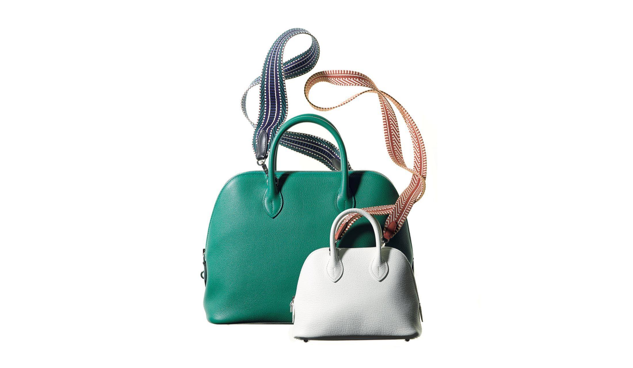 エルメスのハンドバッグ「ボリード」に付けるエルメスのストラップ「パンドリエール」