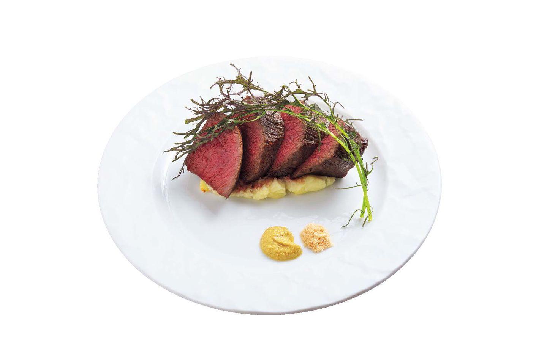 【1】熟成牛肉ステーキ|「京都 中勢以 月」(東山)