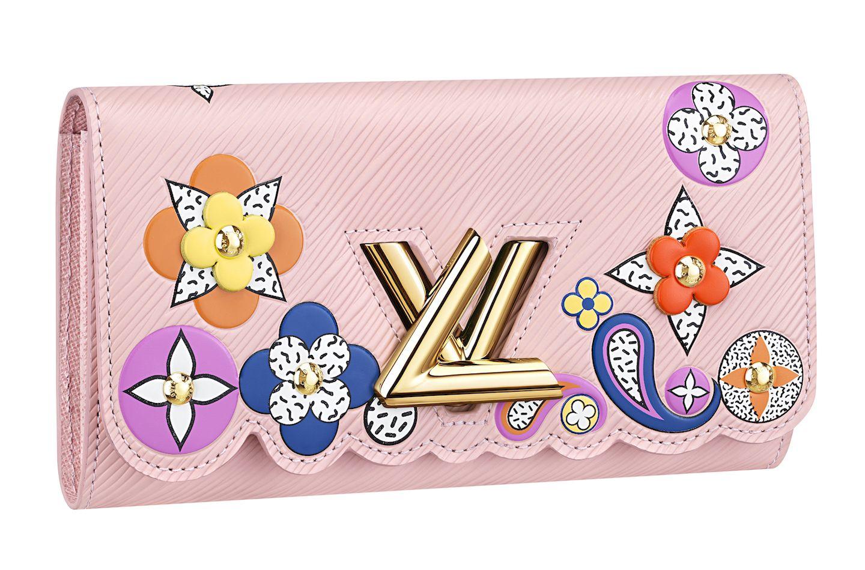 ルイ・ヴィトンのピンクの革財布